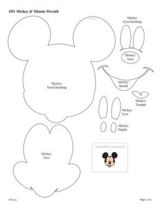 Moldes - Minnie e Mickey Mouse Mickey Craft, Mickey Mouse Crafts, Theme Mickey, Mickey Party, Bolo Do Mickey Mouse, Mickey Mouse Birthday Cake, Disney Mickey, Mickey Cakes, Minnie Rosa Png