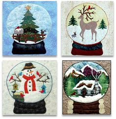 Quilt Inspiration: 'Tis the Season: Snow Globes by Deb Madir
