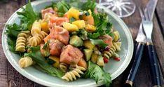 Cevichesalat med laks og pasta Guacamole, Cantaloupe, Seafood, Ceviche, Salad, Ethnic Recipes, Cilantro, Sea Food, Salads