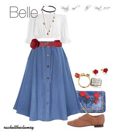 Fashmates Outfit Inspiration: Outfit based on belles casual look in the 2017 Beauty and the Beast Princess Inspired Outfits, Disney Princess Outfits, Disney Themed Outfits, Disney Inspired Fashion, Disney Fashion, Disney Bound Outfits Casual, Classy Outfits, Cute Outfits, Disney Character Outfits
