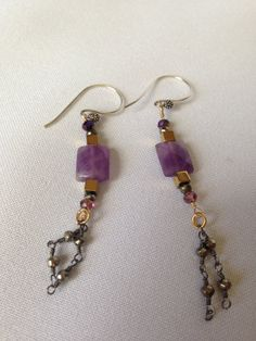 AFTER CHRISTMAS SALE! TAKE 15% OFF ALL THE BEAUTIFUL JEWELRY IN THE SHOP. PLEASE USE CODE (TAKE15) FROM 12/26/2013 - 12/31/2013 ENJOY SHOPPING Sterling Silver Amethyst Handmade Earrings by AquaEleganceJewelry, $45.00