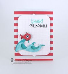 card by SPARKS DT Savannah O'Gwynn PS stamp sets: Briny Blue and Surf & Turf; PS dies: Notebook Bracket