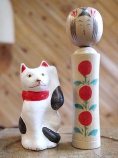 相良人形の招き猫up4