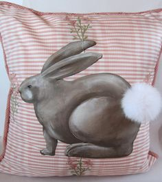 Cottontail Pillow by kijsa on Etsy, $58.00