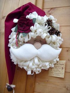 [Christmas Wreaths] Artificial Christmas Trees and Wreaths - Are You Faking it Or Keeping it Real For Christmas? Santa Crafts, Christmas Projects, Felt Crafts, Holiday Crafts, Christmas Sewing, Noel Christmas, Christmas Ornaments, Xmas Wreaths, Christmas Decorations