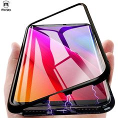 Magnetic Adsorption Metal Phone Cases For Samsung Galaxy Plus Back Case Anti Knock Tempered Glass Flip. time is limited,if you want to buy, please as quickly as possible ! Flip Phone Case, Cell Phone Cases, Phone Cover, Iphone Cases, Samsung Galaxy S9, Galaxy S8, S5 Samsung, Cover Film, Capas Samsung