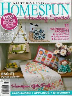 ALfa studio Things we love...: Alfa studio- Guest Artist in Australian Homespun Magazine
