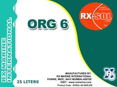 RXSOL ORG - 6 Sludge Cleaner RXSOL-20-2059-025 / 050   is  recommended for local cleaning & degreasing of engine rooms, bilges & tank  tops.  Click Link ::: http://dubichem.com/org-6-degreaser-emulsion-breaker