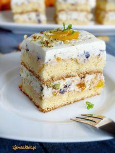 Ciasto Cassata – Zjem to! Polish Desserts, Polish Recipes, No Bake Desserts, Holiday Desserts, Delicious Desserts, Yummy Food, Czech Desserts, Sweet Recipes, Cake Recipes