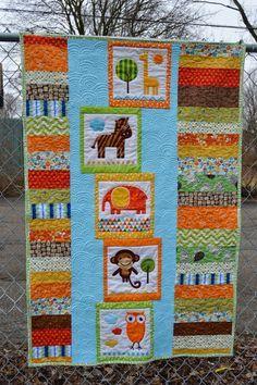Urban Zoologie panels / kids quilt