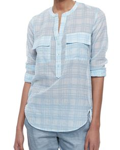 Cascade Blue and White #Cotton #Flannel #Shirt