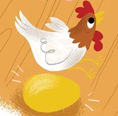 The hen that lays the golden eggs in Jack and the Beanstalk, Storytime Issue 5. Illustration by Brad Renner (http://www.bradrenner.com) ~ STORYTIMEMAGAZINE.COM
