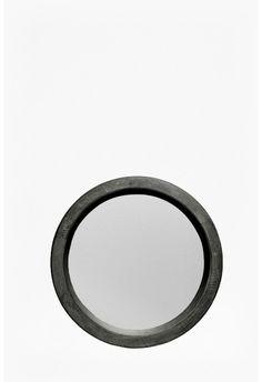 Round Shelf Mirror