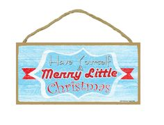 """Retro Style Have Yourself A Merry Little Christmas Holiday Sign 5""""x10"""""""