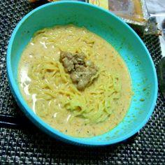 食べかけ…(笑) - 18件のもぐもぐ - 豆乳担々麺(〃'▽'〃) by takimaru
