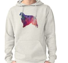 Borzoi Dog Breed Geometric Pattern Silhouette – Pink • Also buy this artwork on stickers, apparel, phone cases, and more. Hoodie (Pullover)