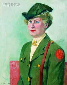 Portrait of a Female Officer, possibly Lucy Lamar, by Jane Peterson (American, 1876-1965)