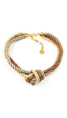 Ben-Amun knotted rope necklace