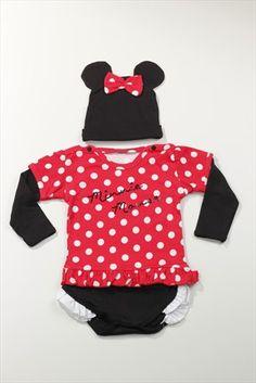 Disney Kırmızı Siyah Kız Bebek Kostüm 880 DİSNEY | Trendyol