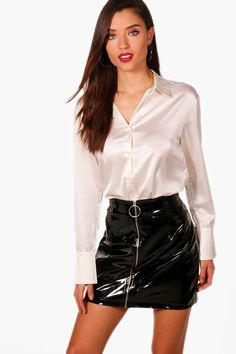 Dedicated to all things silk,satin.and a little sissy White Satin Blouse, Satin Shirt, Silk Satin, Satin Top, Blouse Sexy, Blouse And Skirt, Dress Skirt, Corset Dresses, Shirt Skirt