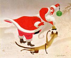 Ralph Hulett - Christmas card art