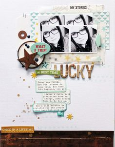 My Stories #layout by Melanie Blackburn for @oct_afternoon