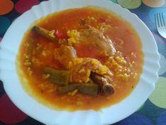 Arroz caldoso con pollo y conejo
