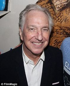 Tragic: Alan Rickman, pictured for the last time in December, reportedly suffered from pancreatic cancer