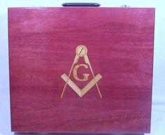 Masonic apron case made of Purple-heart wood. www.MasonicWoodworker.com Masonic Gifts, Purple Heart Wood, Making Out, Solid Wood, Apron, How To Make, Handmade, Hand Made, Aprons