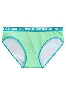 12 justice Girls Cotton Boy Short Panty Black