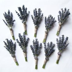 Dried Lavender Wedding Boutonniere