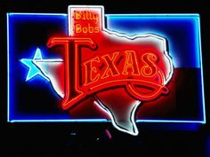 size: Photographic Print: Neon Sign, Billy Bob's Texas Honky Tonk Poster by Holger Leue : Artists