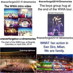 #NeverForget20141DMemories The tour!