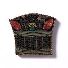 Glass, Decorative Plaques with Plant Motifs, Egypt, 1st century B.C. - 1st century A.D.