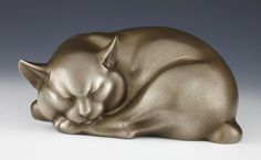 Asian Art | Tsuda Shinobu - Okimono or sculpture of a modernist cat - The Curator's Eye