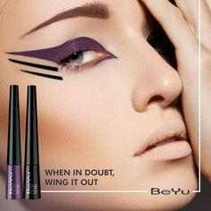 Don't let other eyeliners fret your eyes, let them reflect the beauty with a handy, flexible tip that creates a perfect eyelid liner so that when you are in doubt, just take it and wing it out.  #beyu #dipeyeliner