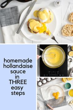 Take your Eggs Benedict to the next level with this super easy homemade Hollandaise Sauce