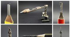 Revisando La Actualidad: Hombre talla geniales esculturas en la punta de un...