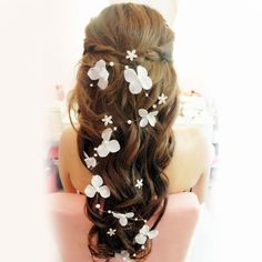 Stock 2014 Bridal Hair Accessories Handmade Butterfly Flower Headwear Bridal Headband Wedding Jewelry Pearl Bridal Hair Piece Online with $6.29/Piece on Alinabridal's Store | DHgate.com