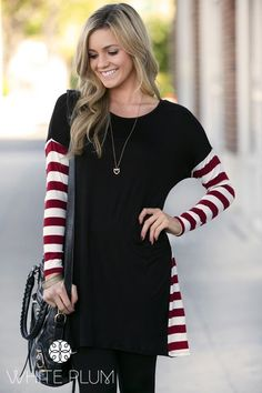 I like the contrasting colors in the sleeves