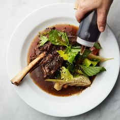 Braised lamb shanks with fish sauce Where most chefs used to just reach for kosher salt, there are now many paths to savory goodness. Recipes With Fish Sauce, Sauce Recipes, Dutch Oven Recipes, Cooking Recipes, Braised Brisket, Maine, Braised Lamb Shanks, Homemade Chicken Stock, Lamb Recipes
