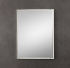 Bistro Polished Nickel Mirror 26x48