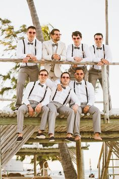Mens Wedding Attire For Beach Celebration ❤ See more: http://www.weddingforward.com/mens-wedding-attire/ #weddings