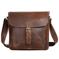 Leathario Retro Mens Leather Messenger shoulder bag Satchel crossbody bag ** You can find out more details at the link of the image. (This is an Amazon Affiliate link)