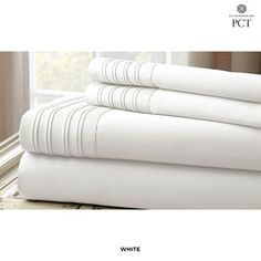 1000 Thread Count Cotton-Rich Sheets with Pleated Hem Design - Assorted Colors at 86% Savings off Retail!