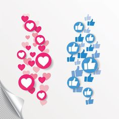 new heart love like thumbs up. red hearts of different sizes fly away. like and heart love icon in move. vector illustration isolated on a white background eps 10 Targeted Advertising, Best Seo Company, New Heart, Social Activities, Symbols, Competitor Analysis, Marketing, Ontario, Hearts