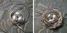 Pearl Nest Pendant DIY--- THIS WAS SO EASY AND TURNED OUT SO BEAUTIFUL AND COST LESS THAN $5 TO MAKE WITH THE NECKLACE
