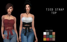 • 18 swatches  • 12 solids - 6 patterns  • Grey solid added to swatshes for recolors  It is the secon clothing mesh from me only. So dont expect perfectness yet :)  Download