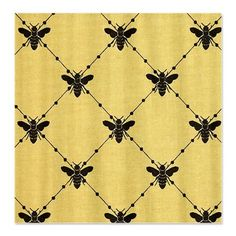 Burlap Bumble Bee Diamonds Shower Curtain