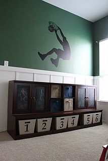 Boys room...but not basketball